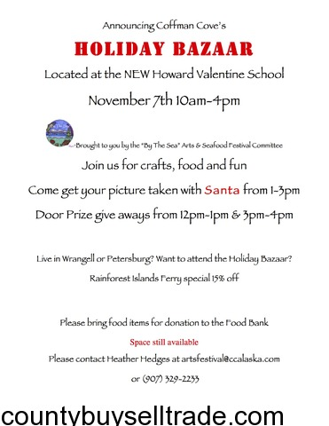 Coffman Cove Holiday Bazaar