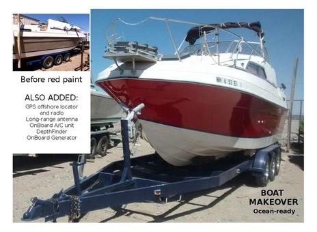 Boat makeover rejuvenation face-lift