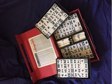 Ivory Mahjong Set with Case