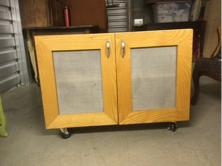 cabinet on wheels; great for art supplies!